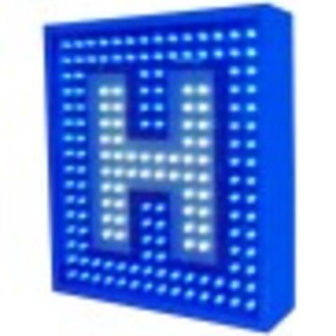 Grupo Empresarial PLAZALED - RÓTULO LED ELECTRÓNICO® PERFILADO PARA HOTELES CON PANTALLA DE TEXTO  - PLAZALED rótulos led electrónicos, pantallas led electrónicas