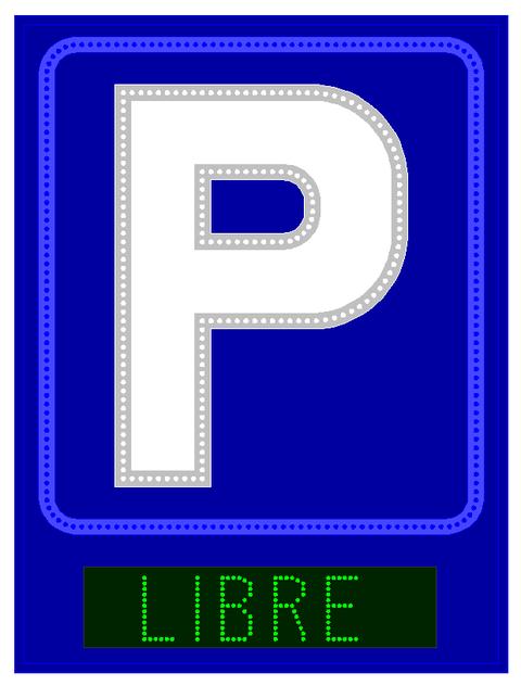 Grupo Empresarial PLAZALED - RÓTULO PARA PARKING PERFILADO CON LIBRE/COMPLETO  MEDIDAS: 1200 X 900 -  PLAZALED rótulos led electrónicos, pantallas led electrónicas