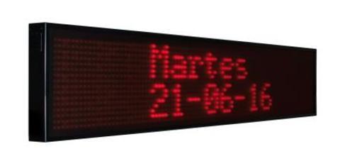 Grupo Empresarial PLAZALED - RÓTULO LED ELECTRÓNICO® DE TEXTO, HORA, TEMPERATURA  - PLAZALED rótulos led electrónicos, pantallas led electrónicas